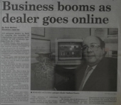 Business booms as dealer goes online
