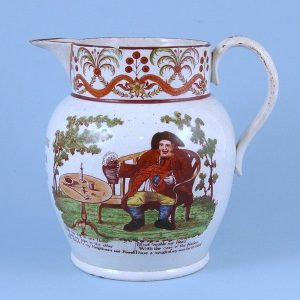 Staffordshire Pearlware Jug - Toby Phillpot