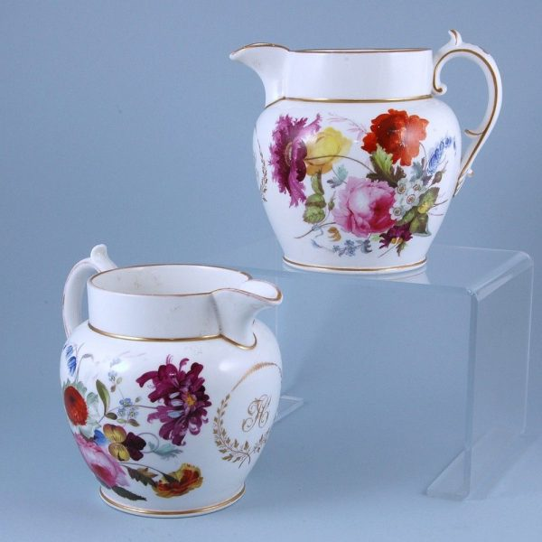 Pair of English Porcelain Jugs