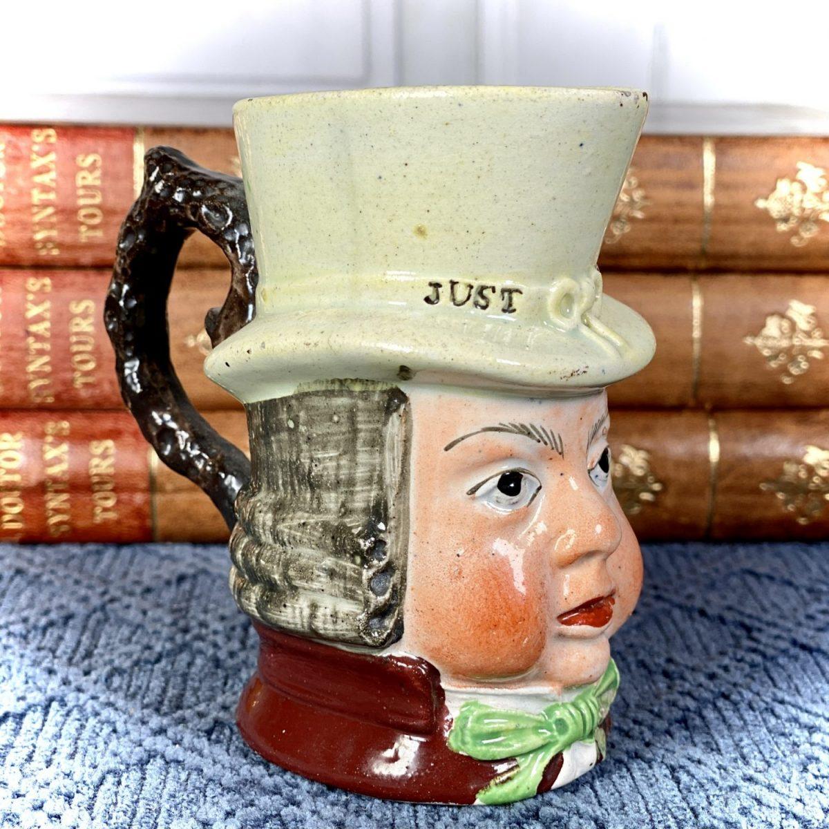 Staffordshire Pottery John Liston /  Paul Pry Mug (sm)