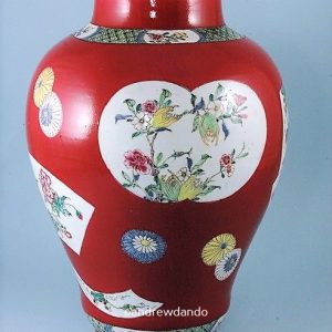 Yongzheng Period Ruby Ground vase.