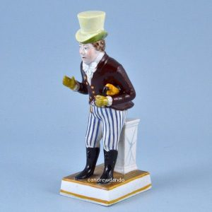 Staffordshire Pottery Theatrical figure of John Liston as Paul Pry.