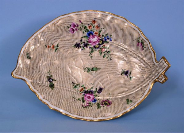Worcester Porcelain Leaf Shaped Dish