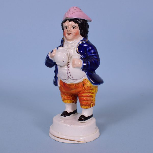 Staffordshire Toper Pepper Pot or Sugar Castor