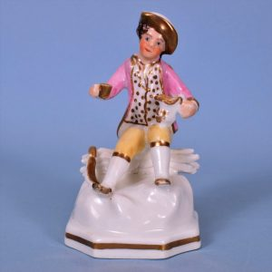 Staffordshire Miniature Figure of a Woodcutter