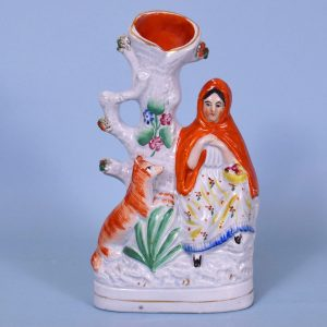 Victorian Staffordshire Little Red Riding Hood Spill Holder