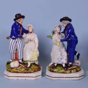 Staffordshire Figures of The Sailors Departure & Return