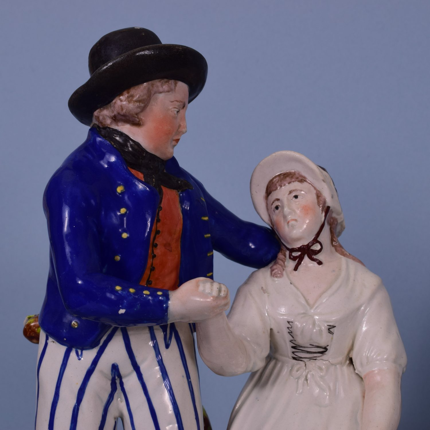 Staffordshire Figures of The Sailors Departure & Return.