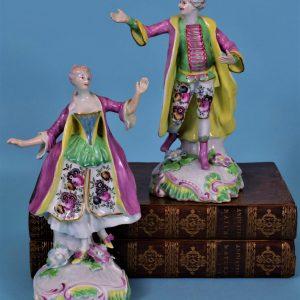 Fine pair of Derby figures of Dancers