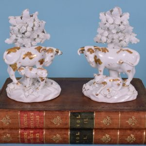 Pair of Derby Cow & Calf Figures
