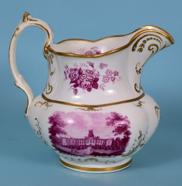 English Porcelain Jug, Cirencester Park