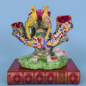 Staffordshire Spill Vase with Birds