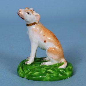 Derby Porcelain Miniature Model of a Dog