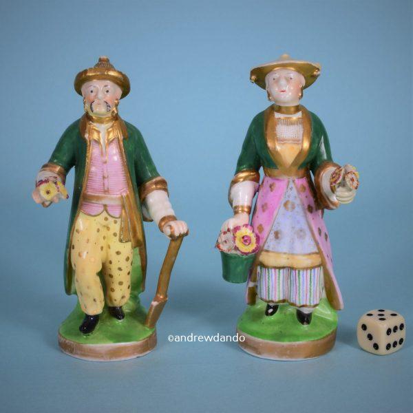 Pair of Staffordshire 'Chinese Gardeners'