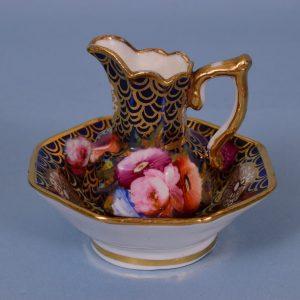 Coalport Porcelain Miniature Jug & Bowl
