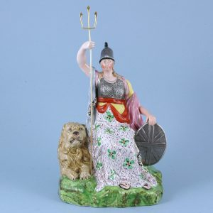 Staffordshire Pottery Large Figure of Britannia.