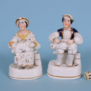 Staffordshire Porcelain Shepherd & Shepherdess