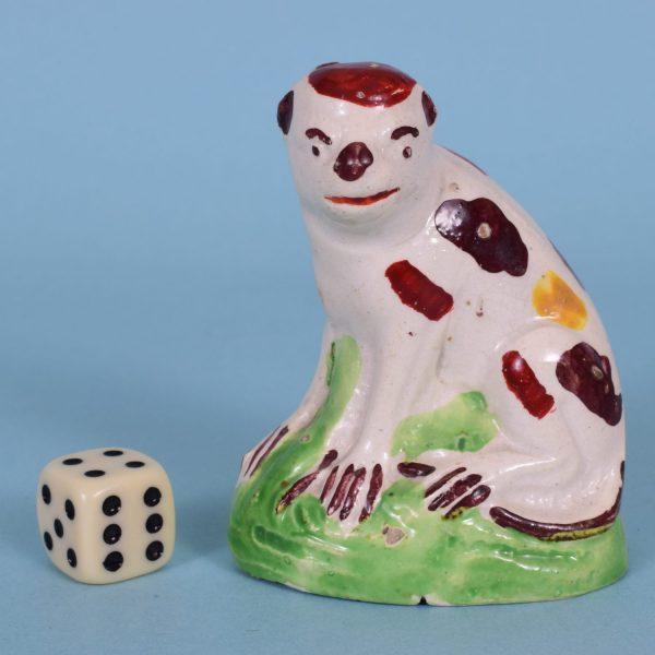 Staffordshire Pottery Monkey.