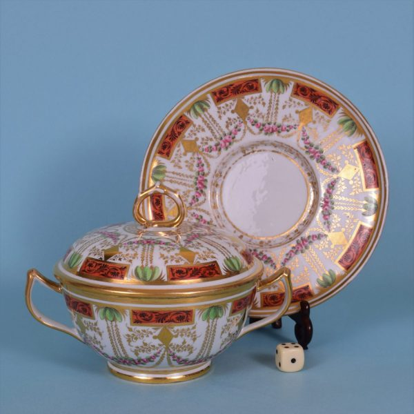 Coalport Two Handled Cup,Cover & Stand.