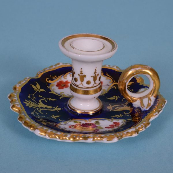 English Porcelain Miniature Taperstick