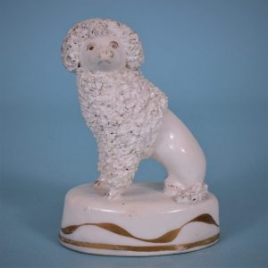 Staffordshire Porcelain Seated Poodle
