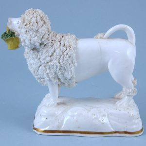 Staffordshire Porcelain Model of a Poodle