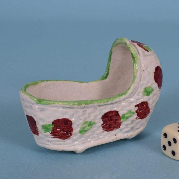 Staffordshire Miniature Cradle.