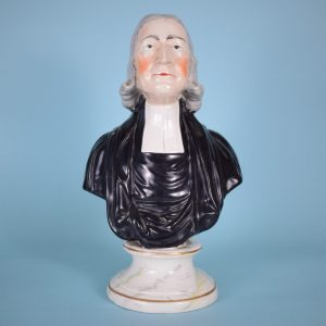 Victorian Staffordshire Bust of John Wesley