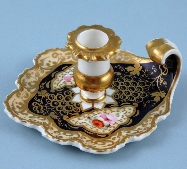 English Porcelain Small Chamberstick.