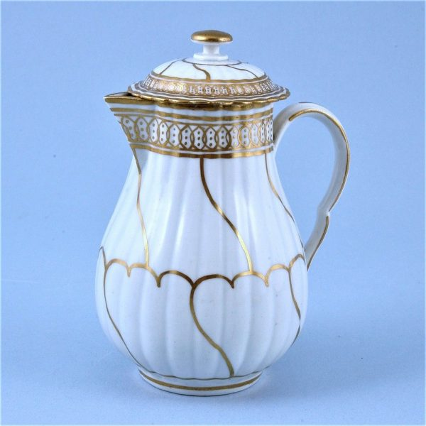 Worcester Porcelain Fluted Jug & Cover