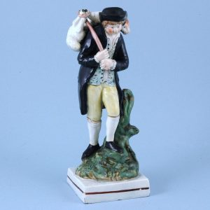 Staffordshire Pottery Figure - The Lost Sheep Found