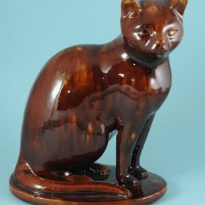 Life size Antique Staffordshire Stoneware Model of a Cat