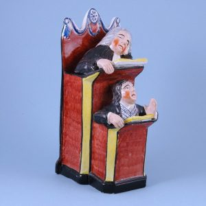 Staffordshire Pottery Pulpit Group 'Vicar & Moses'