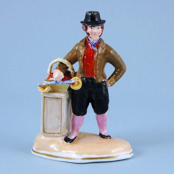 Staffordshire Porcelain Figure of a Fruit Seller