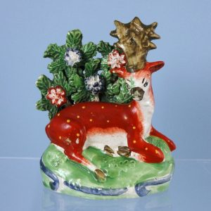 Staffordshire Pottery Stag with Bocage