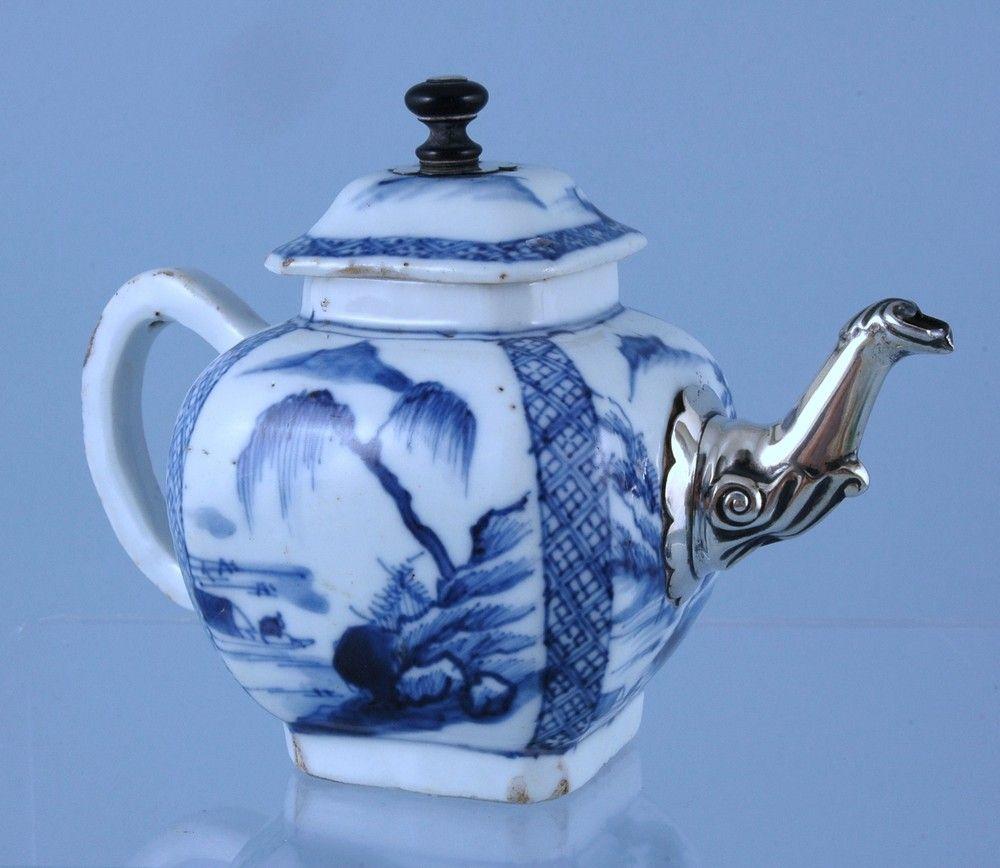Kangxi Period Teapot With Silver Replacement Spout
