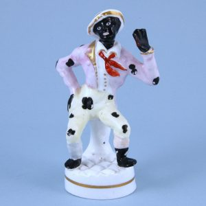 Staffordshire Porcelain Figure of Jim Crow
