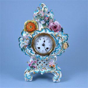 Coalport/Coalbrookdale Porcelain Clock Case