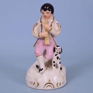 Staffordshire Porcelain Figure of a Shepherd Piper
