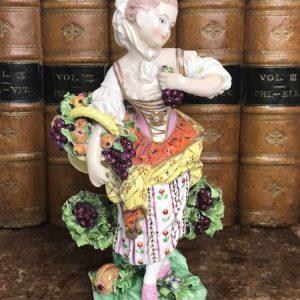 Derby Porcelain figure of Autumn