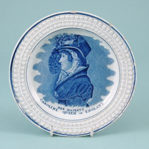 Queen Caroline' Commemorative Plate