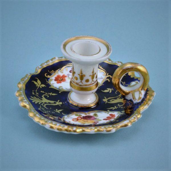 English Porcelain Miniature Chamberstick.