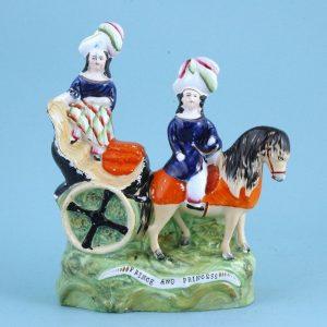 Victorian Staffordshire 'Prince & Princess' Figure