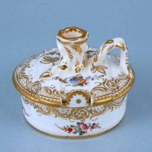 Minton Porcelain 'Bucket' Taper Stick & Base