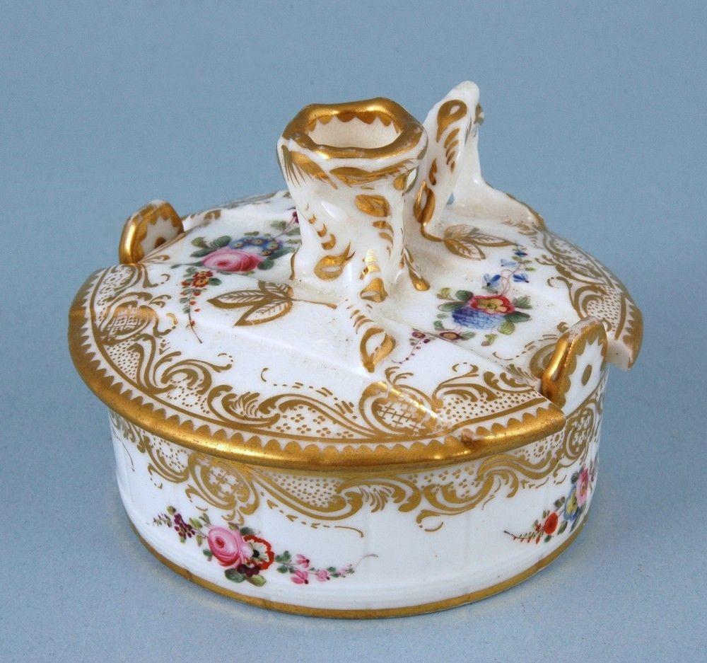 Minton Porcelain 'Bucket' Taper/Candle Stick & Base