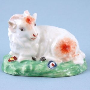 Derby Porcelain Small Model of a Ram.