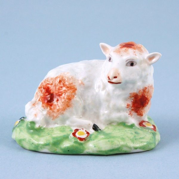 Derby Porcelain small Model of a Lamb. (lhs)