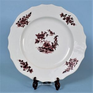 Tournai Manganese Decorated Plate