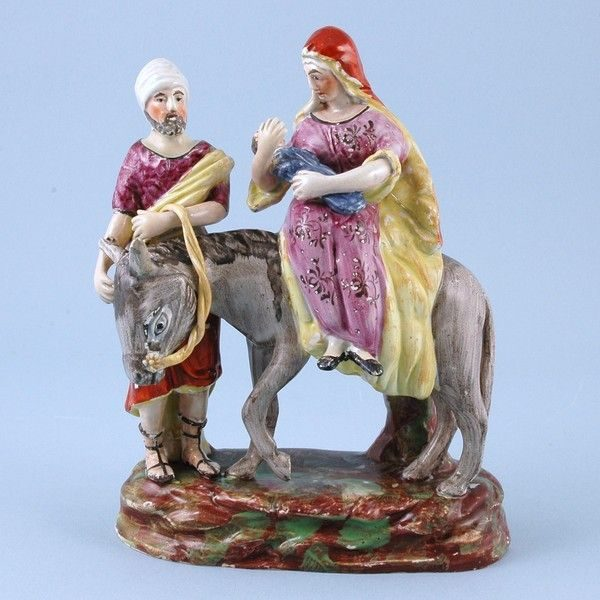 Staffordshire Pottery Figure of 'The Flight into Egypt'