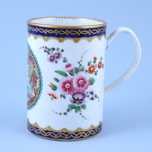 Worcester Porcelain Dalhousie Pattern Mug.